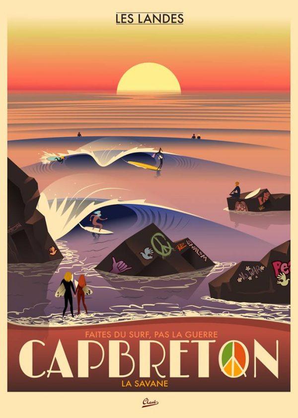 Spot de surf des Landes Capbreton