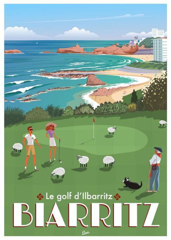 Affiche le Golf d'Ilbarritz