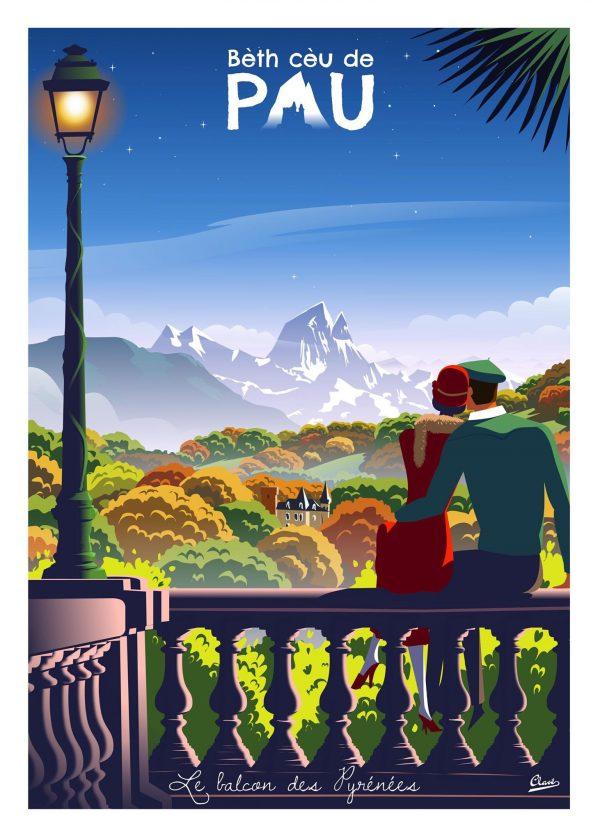sur le balcon des Pyrénées, de belles couleurs de , Pau