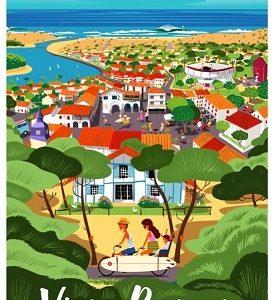 Affiche Vieux-Boucau Village